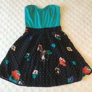 Floral dress with polka dots